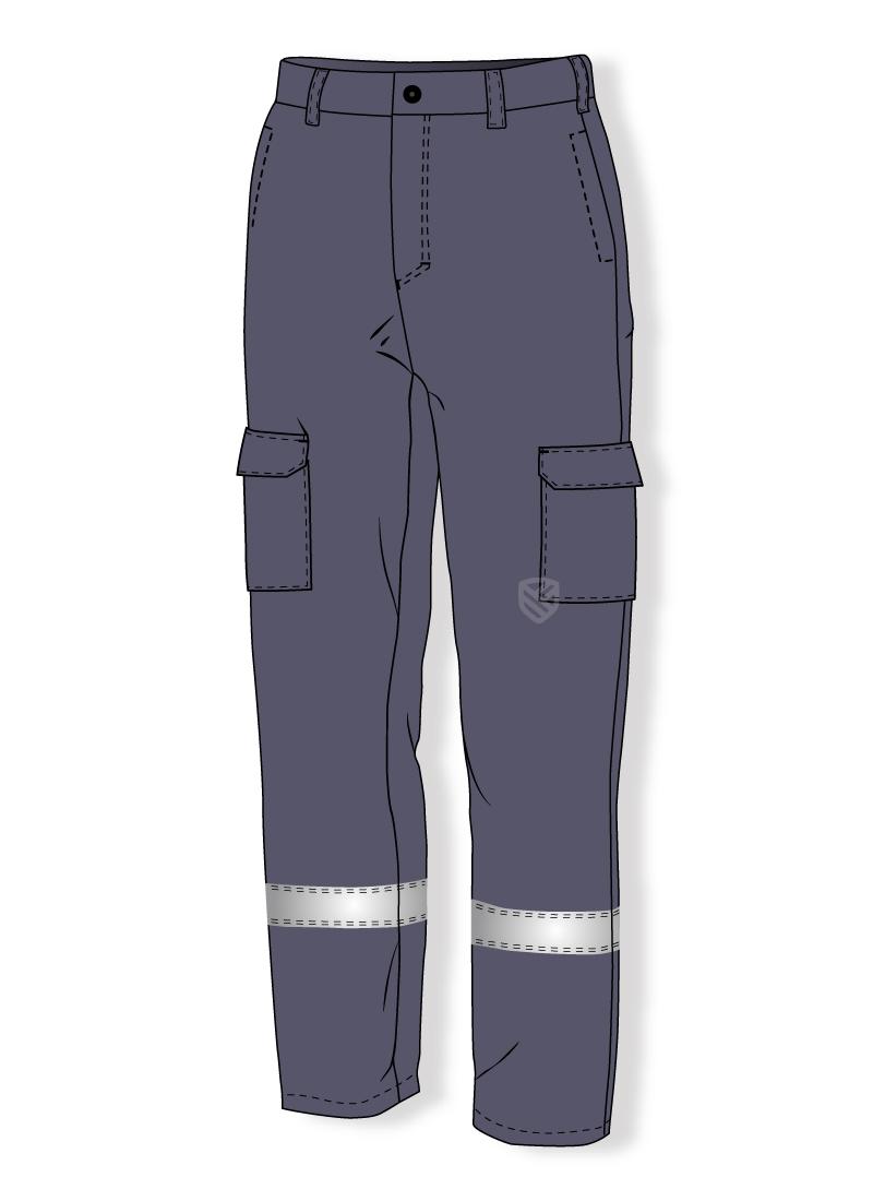 Ocieplane spodnie chroniące przed działaniem łuku elektrycznego