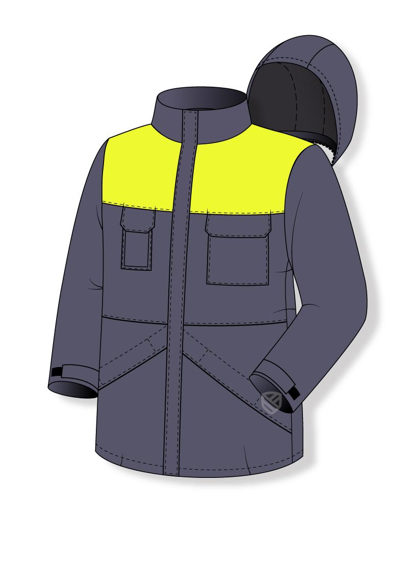 Kurtka chroniąca przed zimnem ocieplane